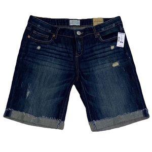 Aeropostale dark wash distressed denim shorts nwt